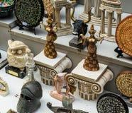 Heraklion, Greece - November, 2017: Souvenirs on the street of Heraklion, Crete. Heraklion, Greece - November, 2017: Souvenirs, depicting Greek mythology and Stock Photos
