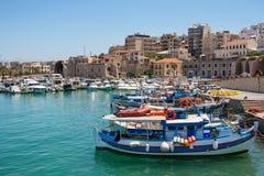 Heraklion hamn. Crete Grekland Royaltyfri Bild