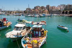 Heraklion harbour. Crete, Greece Royalty Free Stock Images