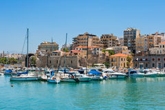 Heraklion harbour. Crete, Greece Royalty Free Stock Photography