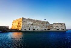 Heraklion harbour, Crete, Greece Royalty Free Stock Photos