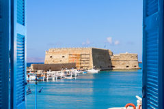 Heraklion harbour, Crete, Greece Stock Images