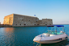 Heraklion harbour, Crete, Greece Royalty Free Stock Photo