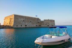 Heraklion harbour, Crete, Greece Royalty Free Stock Photo