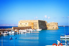 Heraklion harbour, Crete, Greece Stock Photography