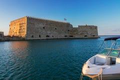 Heraklion harbour, Crete, Greece Stock Photos