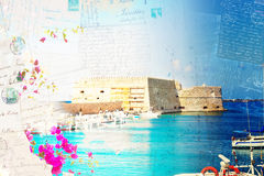 Heraklion harbour, Crete, Greece Stock Photo