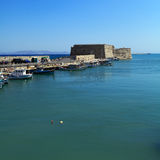 Heraklion Harbour and Fortress, Crete Royalty Free Stock Photo