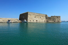 Heraklion Harbour and Fortress, Crete Stock Photography