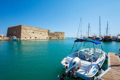 Heraklion Harbour and Fortress, Crete Stock Photos
