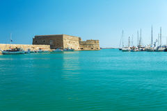 Heraklion Harbour and Fortress, Crete Royalty Free Stock Image