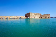 Heraklion Harbour and Fortress, Crete Royalty Free Stock Photos