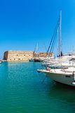 Heraklion Harbour and Fortress, Crete Stock Images