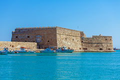 Heraklion Harbour and Fortress, Crete Royalty Free Stock Images