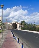 Heraklion main road view Royalty Free Stock Photography