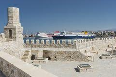 Heraklion port Obrazy Royalty Free