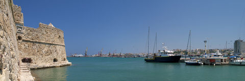 Heraklion port Royalty Free Stock Photo