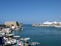 Heraklion port stock image
