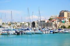 Heraklion port Royaltyfria Foton