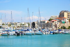 Heraklion port Royalty Free Stock Photos