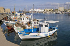 Heraklion port and venetian harbour. In island of Crete, Greece Royalty Free Stock Photography
