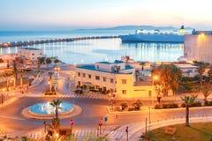 Heraklion Porto marítimo no nascer do sol Imagens de Stock
