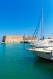 Heraklion schronienie i forteca, Crete obrazy stock