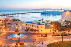 Heraklion. Sea port at sunrise. Stock Images
