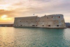 Heraklion Stary Wenecki forteca Zdjęcie Royalty Free