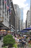 New York, 2nd July: Herald Square in Midtown Manhattan from New York City in United States royalty free stock photography