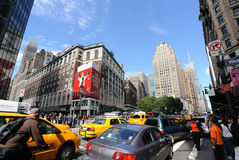 Herald Square in New York City. The busy intersection of Broadway and 34th Street in New York City, dubbed Herald Square, with Macy's department store visible in Royalty Free Stock Photography