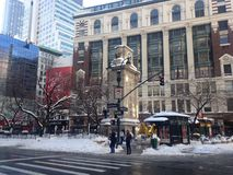 Herald Square in Snow. Royalty Free Stock Photos