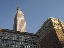 Herald Square View. This a view of the Empire State Building from Herald Square royalty free stock images