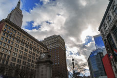 Herald square watch tower. Royalty Free Stock Images