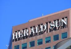 Herald Sun newspaper Melbourne. Herald Sun newspaper logo Melbourne Stock Photo