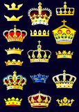 Heraldic альбом. Кроны. (Страница 2) (вектор) Стоковая Фотография