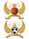 heraldic вектор спорта картины Стоковые Фото