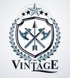 Heraldic, винтажная эмблема бесплатная иллюстрация