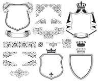 Heraldic герб Стоковые Изображения
