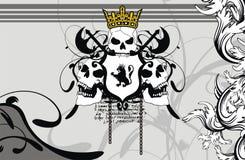 Heraldic герб backgroundv4 Стоковое Изображение