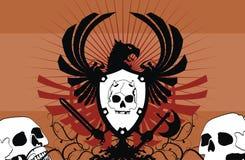 Heraldic герб backgroundv01 Стоковое Изображение