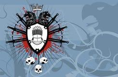 Heraldic герб backgroundv3 Стоковые Фотографии RF