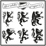 Heraldic диаграммы зверей Стоковое Изображение RF