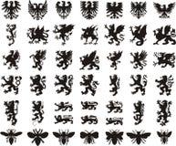 Heraldic комплект элементов Стоковые Фотографии RF