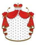 Heraldic королевская хламида Стоковое Изображение RF