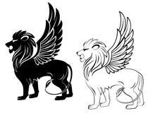 heraldic львев Стоковая Фотография RF