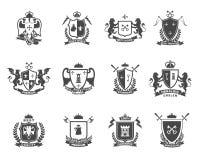 Heraldic наградные качественные установленные эмблемы бесплатная иллюстрация