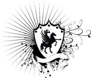 Heraldic пальто лошади рукояток 5 Стоковое фото RF