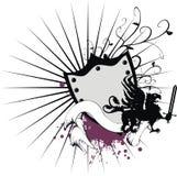 Heraldic пальто gryphon рукояток 1 Стоковое Изображение RF