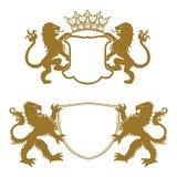 Heraldic силуэты гребней Стоковое Изображение